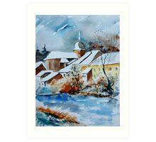 Watercolor chassepierre  Art Print