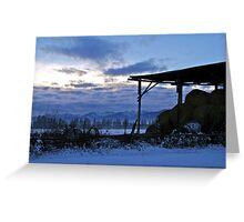 Sunset Bench Greeting Card