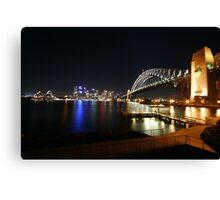 Milsons Point by Night - Sydney, Australia Canvas Print