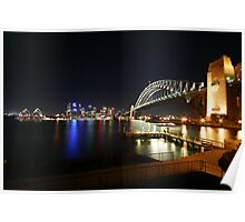 Milsons Point by Night - Sydney, Australia Poster