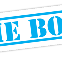 THE BOSS in blue stencil important type! Sticker