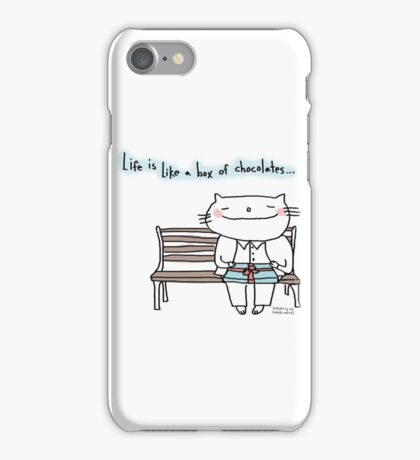 Life is like a box of chocolates ... / Cat doodle iPhone Case/Skin