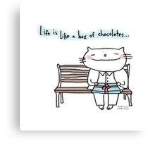 Life is like a box of chocolates ... / Cat doodle Canvas Print