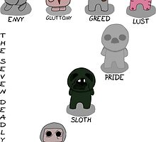 The Binding Of Isaac - The Seven Deadly Sins w/Title and w/Names by Trick6