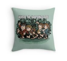 Where the Halflings Are Throw Pillow