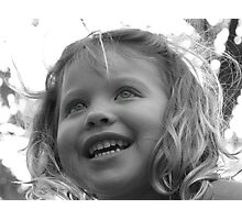 Her Eyes Light Up Photographic Print
