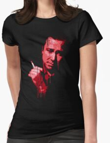 Bill Hicks (red) Womens Fitted T-Shirt