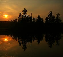 sunset silhouette by Kevin Harris