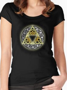 Celtic Triforce  Women's Fitted Scoop T-Shirt