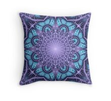 Artistic Winter pattern in blue and purple Throw Pillow