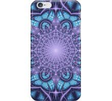 Artistic Winter pattern in blue and purple iPhone Case/Skin