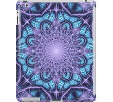 Artistic Winter pattern in blue and purple iPad Case/Skin