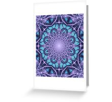 Artistic Winter pattern in blue and purple Greeting Card