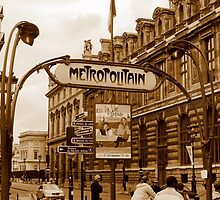 Le Metro - Paris, France by Deanna Roberts Think in Pictures