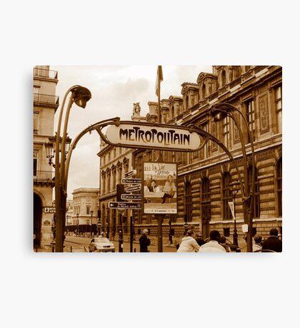 Le Metro - Paris, France Canvas Print
