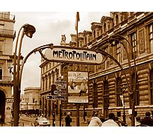 Le Metro - Paris, France Photographic Print