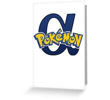 Pokemon Alpha Sapphire  Greeting Card