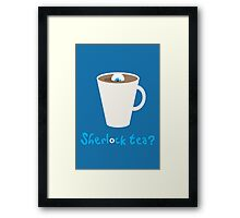Sherlock tea? Framed Print