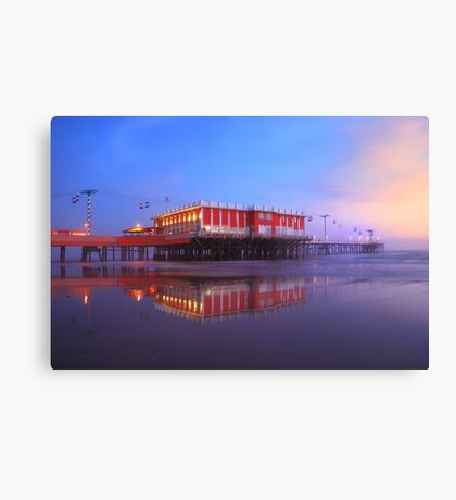 A Battle With a Foggy Sunrise Canvas Print