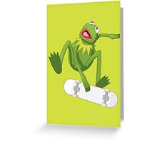 Skate Frog Greeting Card