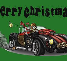 Steampunk Cobra Style Christmas car by squigglemonkey