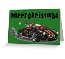 Steampunk Cobra Style Christmas car Greeting Card