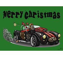 Steampunk Cobra Style Christmas car Photographic Print