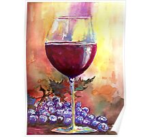 Wine With Friends By Artist Hannah Tiffin  Poster