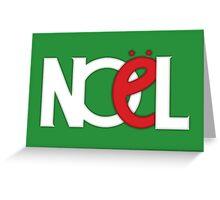 NOEL Green Greeting Card