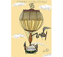 STEAMPUNK HOT AIR BALLOON CHRISTMAS STYLE Photographic Print