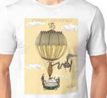 STEAMPUNK HOT AIR BALLOON CHRISTMAS STYLE Unisex T-Shirt