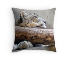 Resting Leopard Throw Pillow