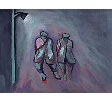 Foggy night ( from my original acrylic painting digitally enhanced) Photographic Print