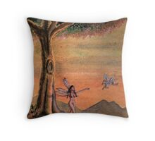 The Lonely Dryad Throw Pillow