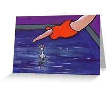 The big splash ( from my original acrylic painting ) Greeting Card