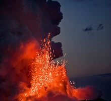 Kilauea Volcano at Kalapana by Alex Preiss