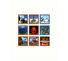 Super Mario 64 Paintings Art Print