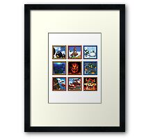 Super Mario 64 Paintings Framed Print