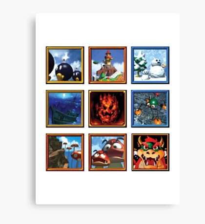 Super Mario 64 Paintings Canvas Print
