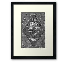 Weight Limit Framed Print
