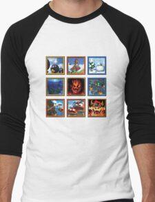 Super Mario 64 Paintings Men's Baseball ¾ T-Shirt
