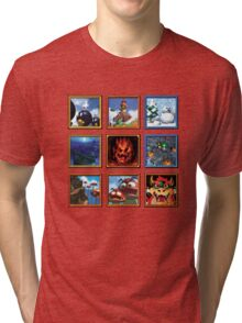 Super Mario 64 Paintings Tri-blend T-Shirt