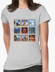 Super Mario 64 Paintings Womens Fitted T-Shirt