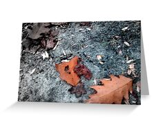 On The Ground Greeting Card