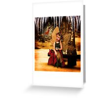 Winter Forest Fairies Greeting Card