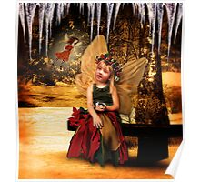 Winter Forest Fairies Poster