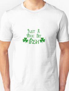 Wee Bit Irish with Shamrocks Unisex T-Shirt