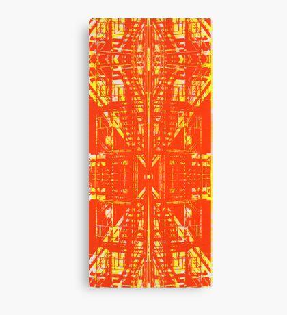 linear orange Canvas Print
