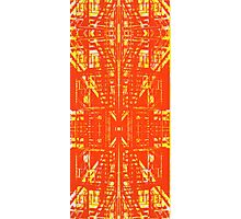 linear orange Photographic Print