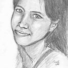 pencil portrait 1 by Colin Wells